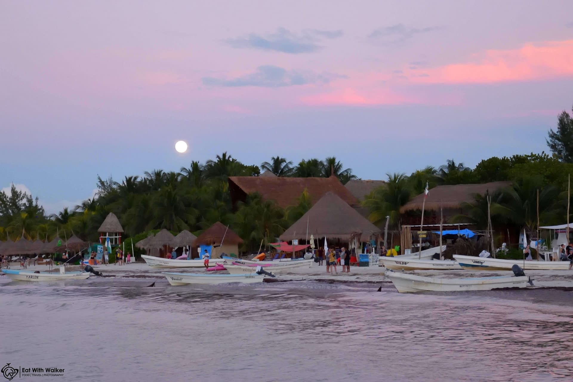 Rising Full Moon - Isla Holbox