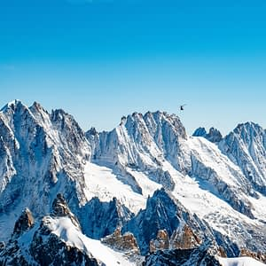 View from the top of the Aiguille du Midi - Chamonix